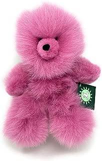 Inca Fashions - 100% Baby Alpaca Fur Teddy Bear - Hand Made - Pink Lilac - Hypoallergenic & Pillow Soft (10 Inch)