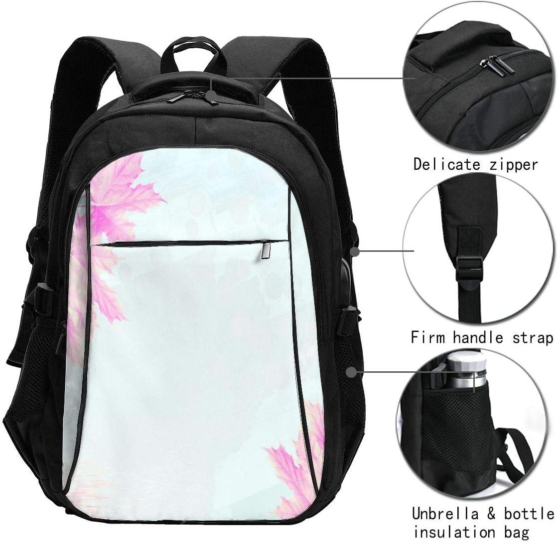 Laptop Backpack with USB Charging Port Mandala Watercolor Travel Backpacks Daypack for Women Men