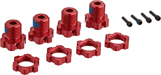 Traxxas 5353R  Red-Anodized Aluminum 17mm Splined Wheel Hubs (set of four)