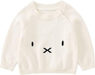 pureborn Baby Boys Girls Unisex Sweater Pull on Closure O-Neck Cartoon Cat Outwear