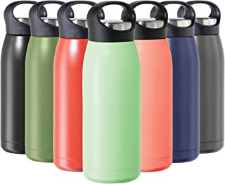Oggi Freestyle Stainless Steel Insulated Water Bottle- Double Wall Vacuum Insulated, Travel Thermos, 17oz(500ml), Mint (81...
