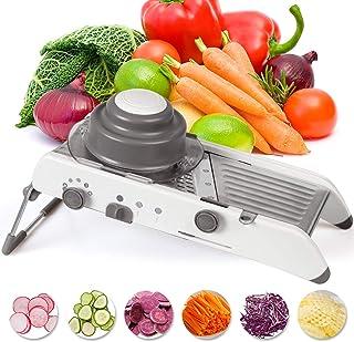 Kintty Mandoline de Cuisine Trancheuse Mandoline 6 en 1 Multifonction Professionnelle Couper Les Legumes, Coupe-légumes av...