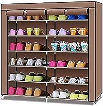 NANAO 7 Tier Shoe Rack Storage Organizer, 24 Pairs Portable Double Row Shoe Rack Shelf Cabinet Tower for Closet with Nonwo...