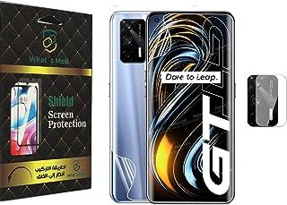 شاشة حماية 3 في 1 ضد الصدمات امامية وخلفية لجهاز ريلمي GT بلوم مطفي وشفاف من واتس موب