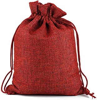 Burlap Gift Bags Small Drawstring Pouch Linen Bags Wedding Favors Mini Burlap Sacks Jewelry Organizer Holiday Treat Candy Bags Reusable for Baby Shower Birthday Parties Presents 20PCS 3.9 x 3.1 Inch