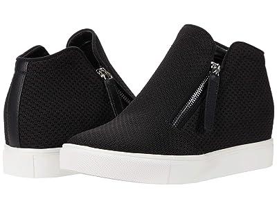 Steve Madden Click Wedge Sneaker (Black) Women