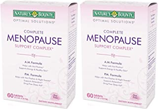 Nature's Bounty Optimal Solutions Complete Menopause Support Complex Tablets 60 TB - Buy Packs and SAVE (Pack of 2)