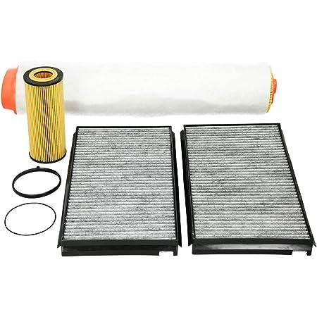 Inspektionspaket Wartungspaket Filterset 1x Luftfilter 1x Ölfilter Longlife Ausführung 2x Innenraumfilter Typ Aktivkohlefilter Auto