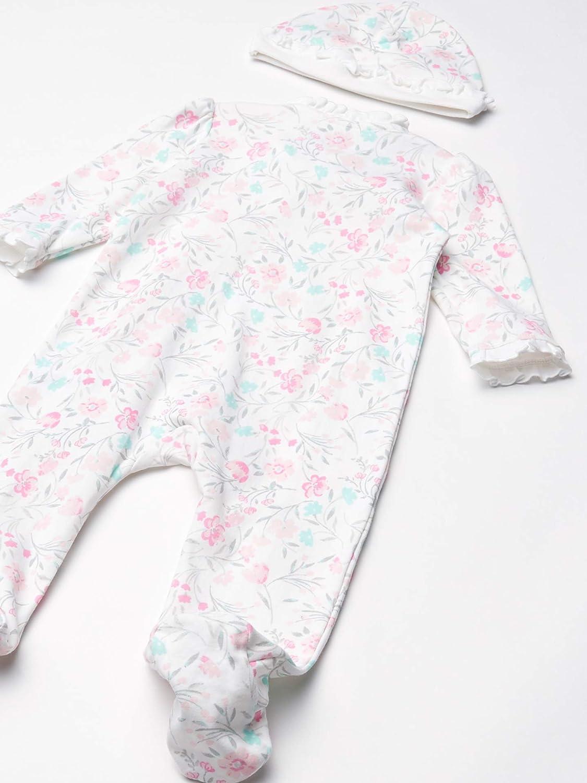 Little Me Baby-Girls Newborn Footie and Hat