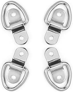 Divoti 4X Surgical Stainless Trapezoid D Ring Tie Downs Cargo Trailer Anchors Points, Surface Mounting Brackets – Surface-Mount/Bolt-on Applications