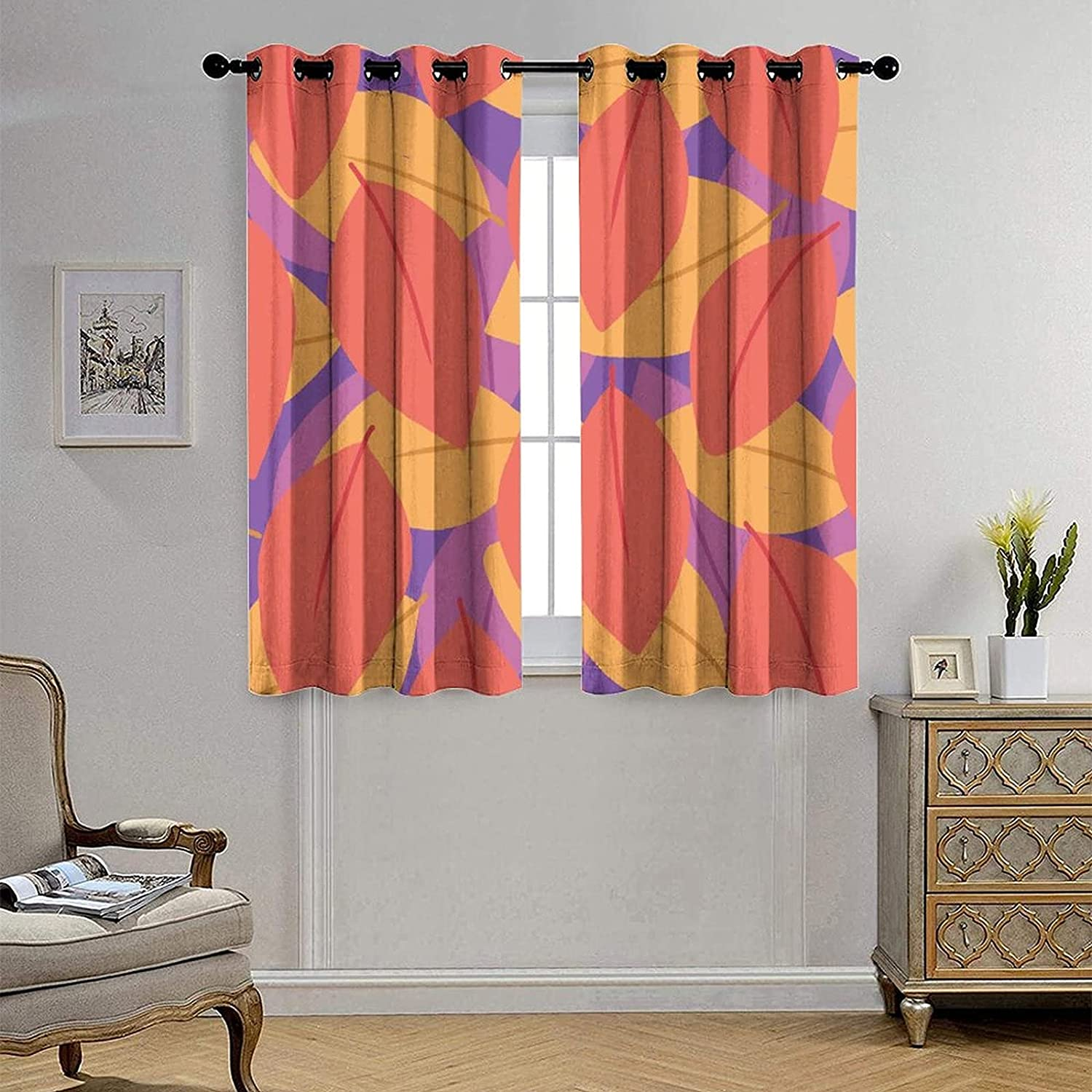 Jktown Blackout Max 82% OFF Window Curtain Panels F and Curtains Now on sale Plant Heat