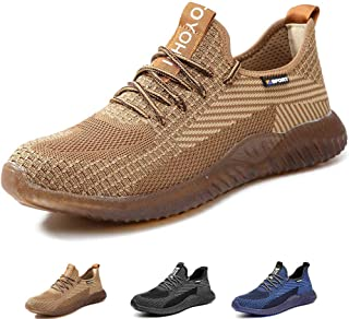 SUADEEX Safety Shoes Men Steel Toe Cap Trainers Mens Womens Lightweight Composite Safety Work Shoes Breathable Industrial