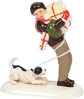 Department 56 Original Snow Village Accessories Norman Rockwell's Christmas Packages Figurine, 3.25 Inch, Multicolor