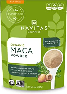 Navitas Organics Maca Powder, 8 oz. Bag, 45 Servings — Organic, Non-GMO, Low Temp-DriedGluten-Free