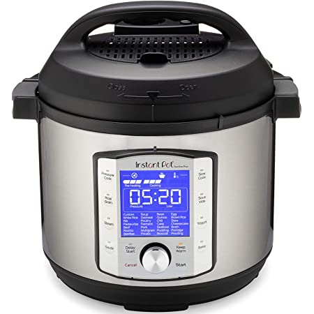 Instant Pot Duo Evo Plus Pressure Cooker 10 in 1,  6 Qt, 48 One Touch Programs, Stainless Steel/Black
