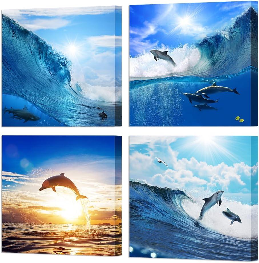 9. Dolphin Blue Ocean Wall Art