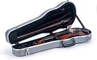 Crossrock CRA800SVFSL - Maletín para violín (plástico ABS), color plateado