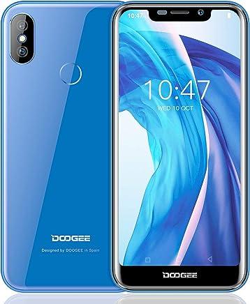 Moviles Libre, DOOGEE X70 Smartphone Libres, 3G Android 8.1 Telefonos - 5.5 Pulgadas HD IPS - 2GB RAM + 16GB ROM - Cámara Dual de 5MP + 8MP - MTK6580A Quad Core - 4000mAh - ID de Rostro - Azul