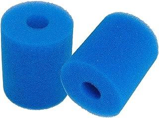 Poweka - Esponja de filtro de piscina para Intex Tipo H, filtro de cartucho de esponja reutilizable y lavable para hidromasaje de Spa de Jacuzzi de Piscina (2 unidades), color azul