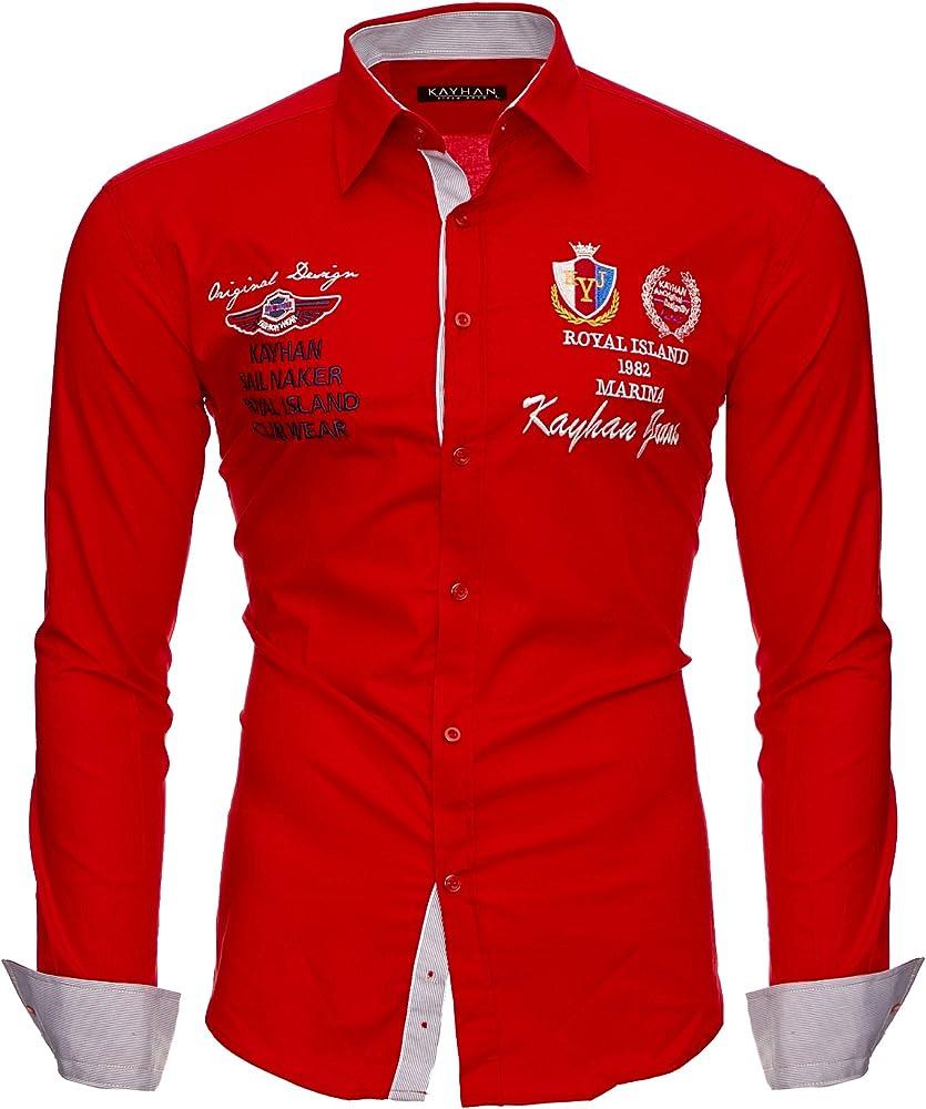 Kayhan originale ,  camicia slim fit per uomo , 97% cotone, 3% elastan A-Monaco-0000011