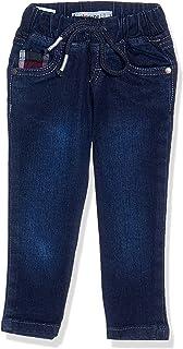 Giggles Side Pocket Elastic Waist Drawstring Denim Pants for Boys
