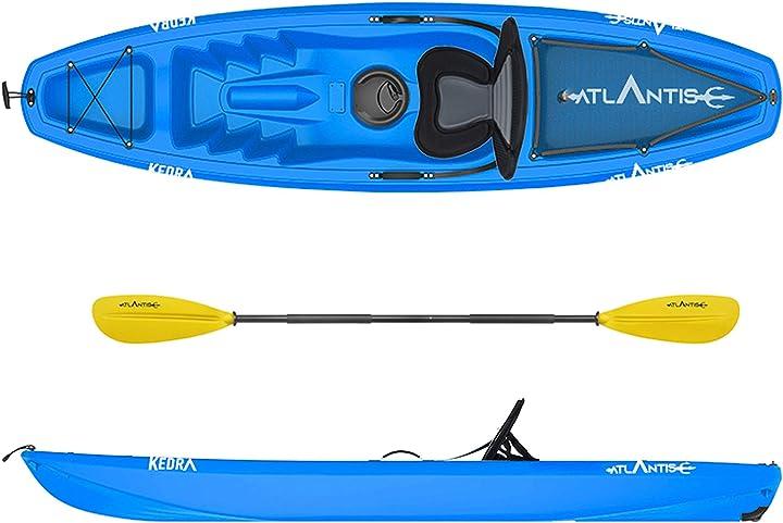 Canoa kayak - atlantis kayak-canoa kedra blu cm 268 - seggiolino - gavone - ruotino - pagaia B0851CNXQ2