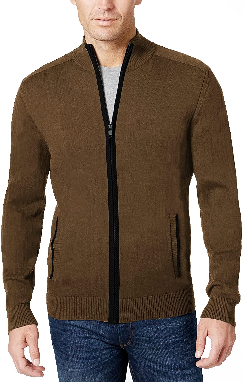 COOFANDY New life Men's Fresno Mall Full Zip Sweater Fit Stylish Slim Knitted Cardiga