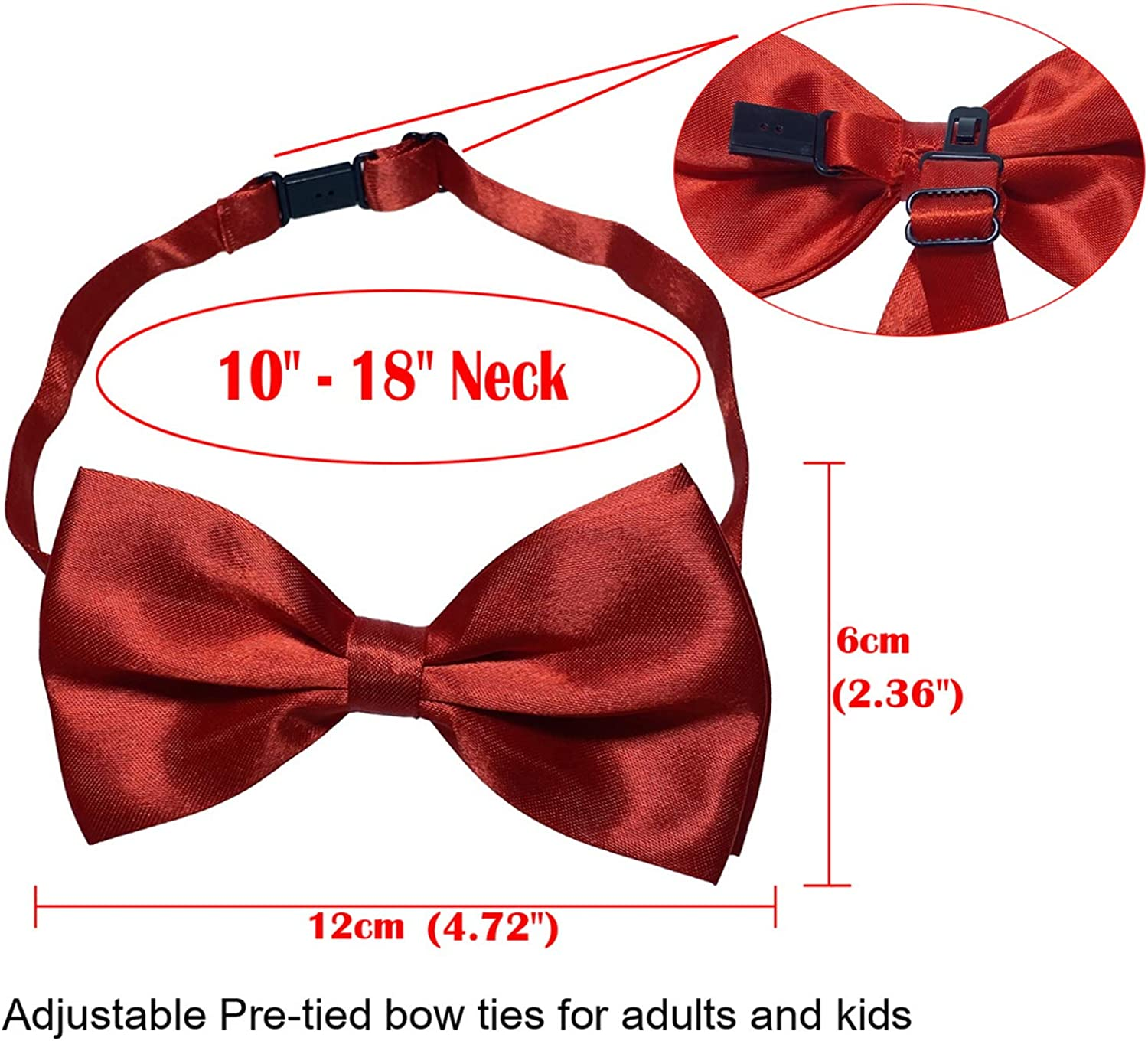 Jixin4you Fashion Bow Tie, Pre-tied Bow Ties For Men Women Kids, Casual Formal BowTie for Weddings etc.