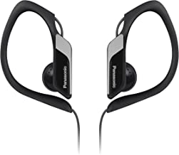 Panasonic Best in Class Sports Clip Earbud Headphones RP-HS34-K (Black) Water Resistant, Tough, Durable, Adjustable Ear Clip, Ultra Light, Audiophile, No Mic, iPhone, Android Compatible