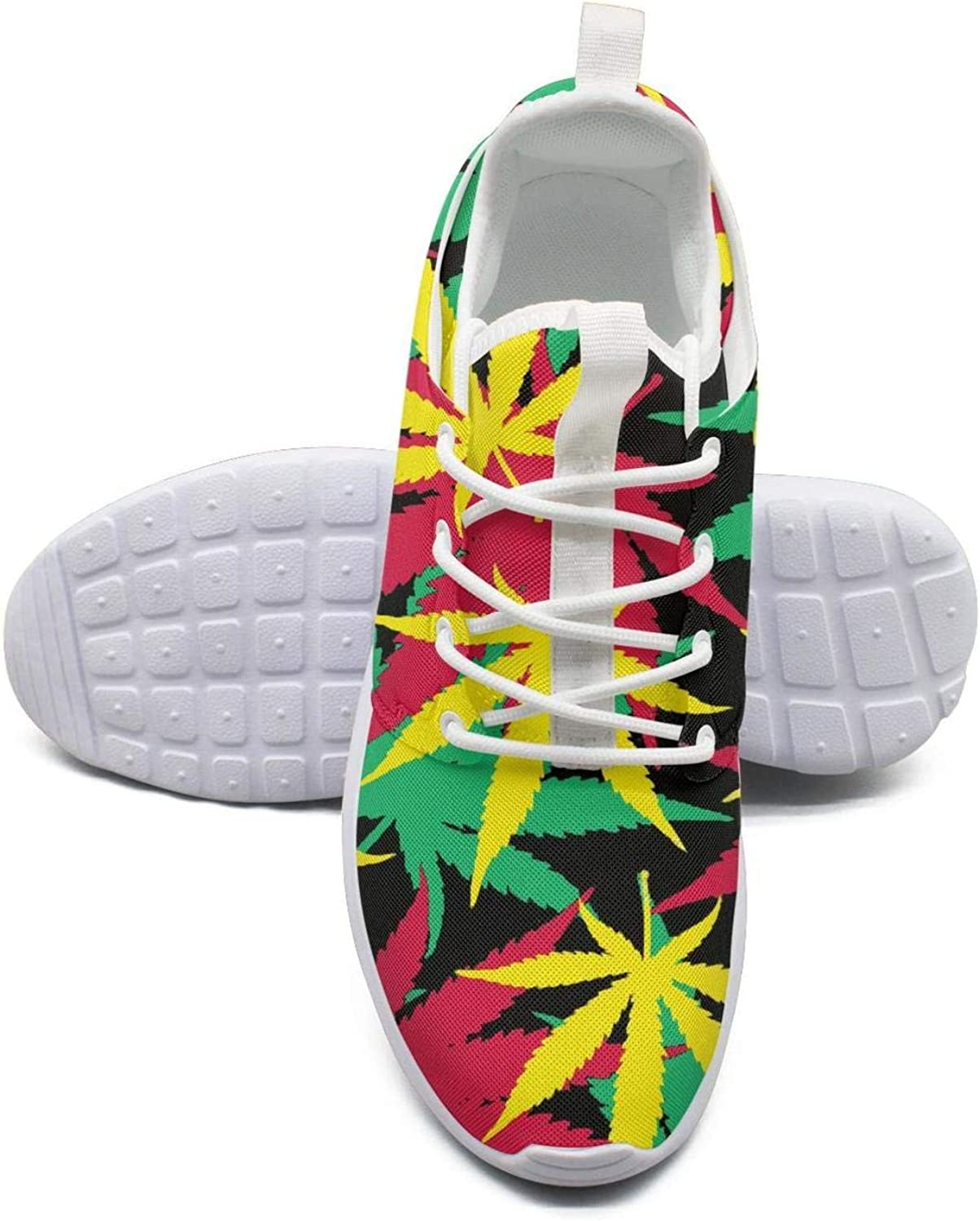 Gjsonmv Weed Marijuana Leaves Cannabis mesh Lightweight shoes Women Fashion Sports Gym Sneakers shoes