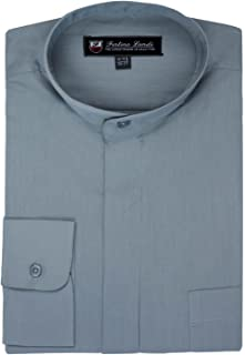 FORTINO LANDI Men's Long-sleeve Banded Collar Shirt - Many Colors Available