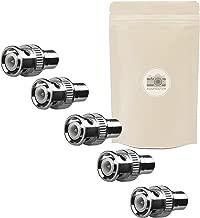 5x Adaptador BNC RCA–Lote de 5Codo Hembra Male Coaxial Conector ángulo Video S-Video adaptout Marque Francaise