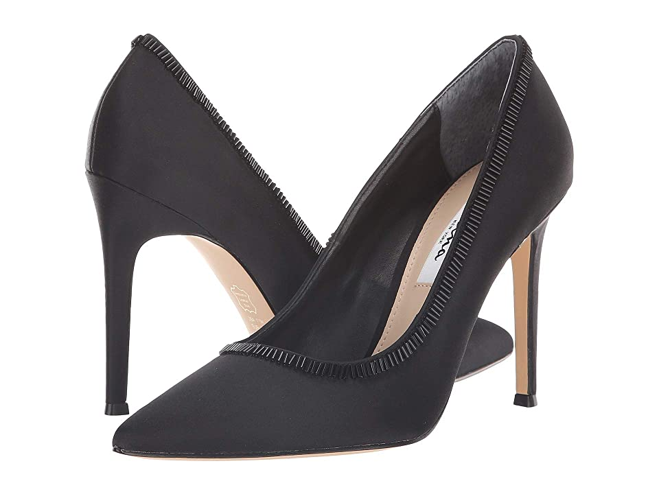 Nina Deedra (Black Satin) High Heels