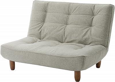 セルタン 日本製 ポケットコイル ハイバックソファー 和楽の浅葱 二人掛け カシコングレー 背部リクライニング A40p-537GRY