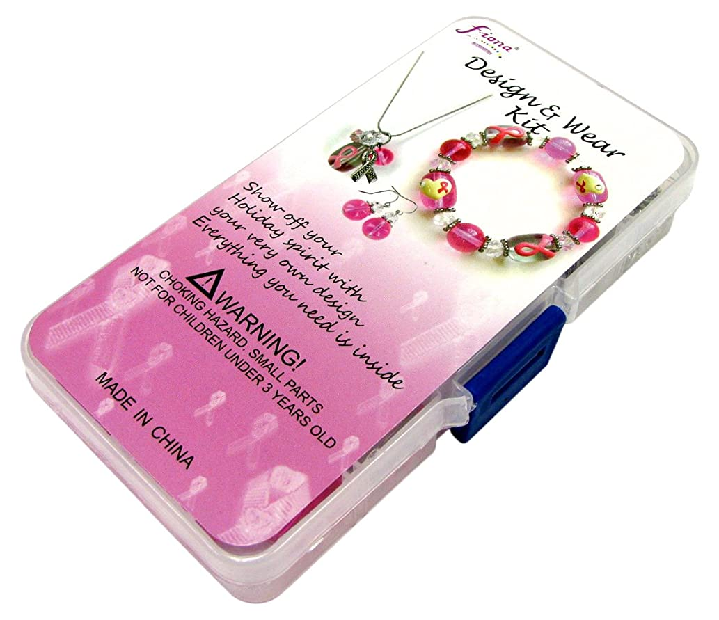 Holiday Bead Kit-Breast Cancer Awareness - Pink & Clear