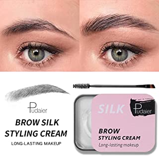 Liyes Eyebrow Shaping Soap, Long Lasting Eye Brow, Makeup Styling Gel Wax, Defined Brows, Balm Styling Brows Soap Kit - with Brush - for Natural Brows Style Design (Multicolor)