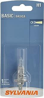 SYLVANIA H1 Basic Halogen Headlight Bulb, (Contains 1 Bulb)
