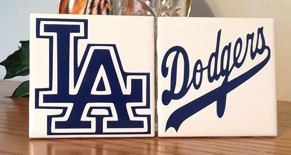 Dodgers Ceramic Tile Coasters Set Of 2