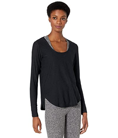 Beyond Yoga Featherweight Spacedye Scooped Long Sleeve Pullover