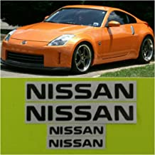 R&G NISSAN & 350Z High Temp Brake Caliper Decal Sticker Set of 4 (Black)