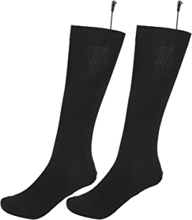 Meias aquecidas unissex, meias de algodão confortável, clima frio para homens e mulheres, uso ao ar livre no inverno