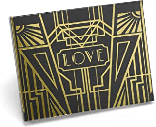 Hortense B. Hewitt Black and Gold Art Deco Guest Book