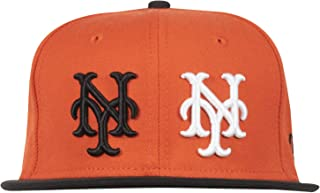 21121496481 Black Scale New ERA 59FIFTY NY Giants BLVCK MLB Fitted HAT Orange AUTHNETIC