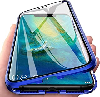 Case for Samsung Galaxy A42 5G Flip Cover Magnetic Adsorption Technology Metal Bumper Frame Case Transparent Tempered Glas...