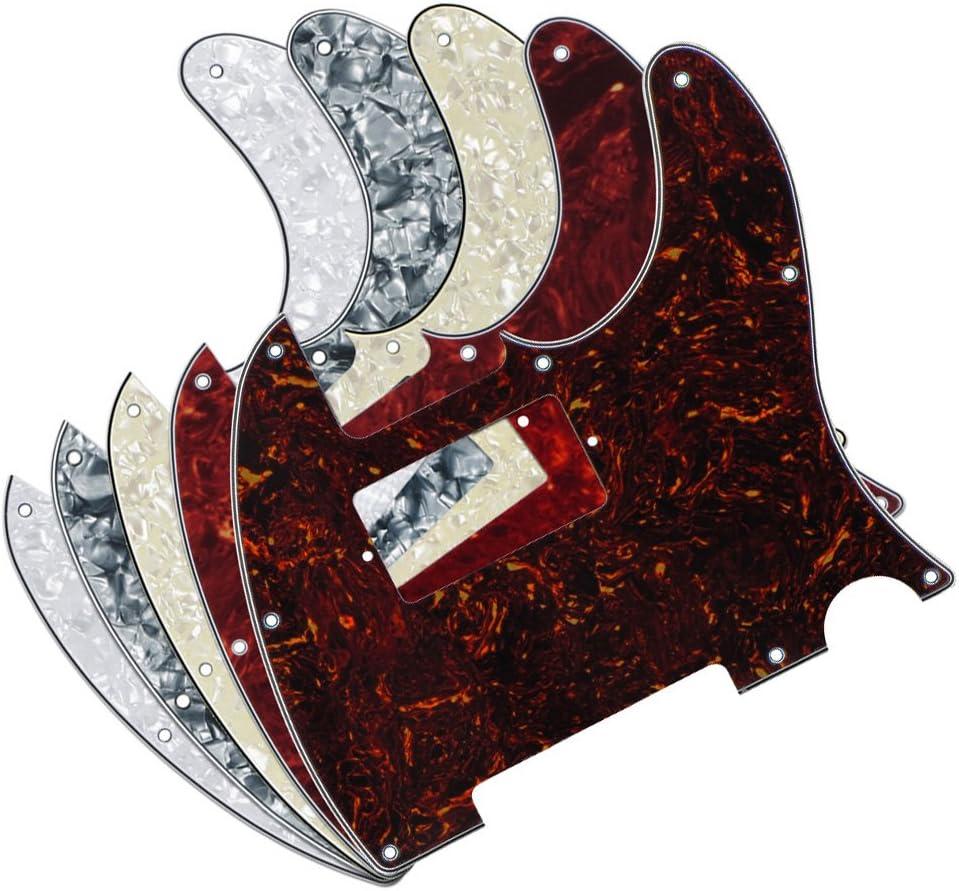 FLEOR 4Ply 8 ブランド激安セール会場 大幅にプライスダウン Hole Tele Humbucker Guitar HH Plate Pickguard Front