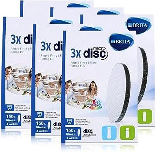BRITA Lot de 3 filtres à eau MicroDisc - Compatible avec les bouteilles filtrantes BRITA fill&go et les carafes filtrantes...