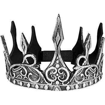 Brand New Dark Royalty Fairy Tale Medieval Renaissance King Crown