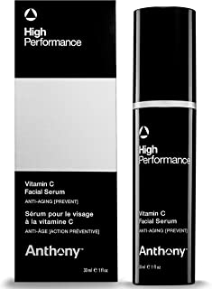 Anthony High Performance Vitamin C Facial Serum, 1 Fl Oz, Contains Polypeptides, Salicylic Acid, Licorice Root Extract, An...