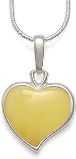 butter amber pendant