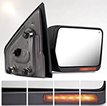 Make Auto Parts Manufacturing Textured Black Power Operated Passenger Right Side Door Mirror with Heated Glass For Ford F150 2004 2005 2006 & For Lincoln Mark LT 2006 - FO1321242